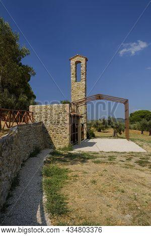 Former Church Of Santa Maria Della Cerqua, Polvese Island, Lake Trasimeno, Umbria, Italy