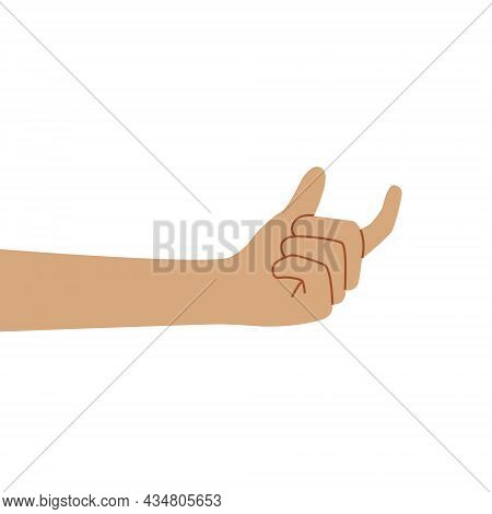 Hand Of A Caucasian Human Showing Fingers Over Isolated White Background Picking And Taking Invisibl