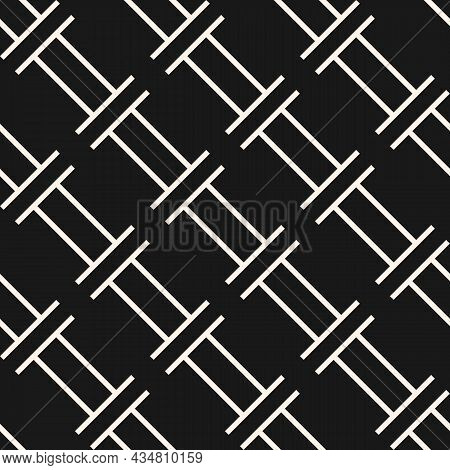 Vector Geometric Seamless Pattern. Abstract Texture With Simple Shapes. Geometry Trendy Graphic Desi