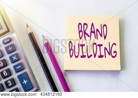 Writing Displaying Text Brand Building. Conceptual Photo Activities Associated With Establishing And