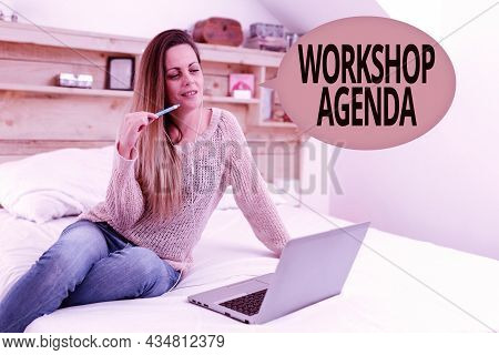 Text Caption Presenting Workshop Agenda. Business Approach Helps You To Ensure That Your Workshop St