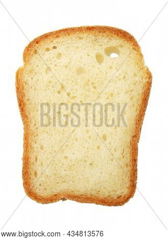 Bread toast isolated on a white background.
