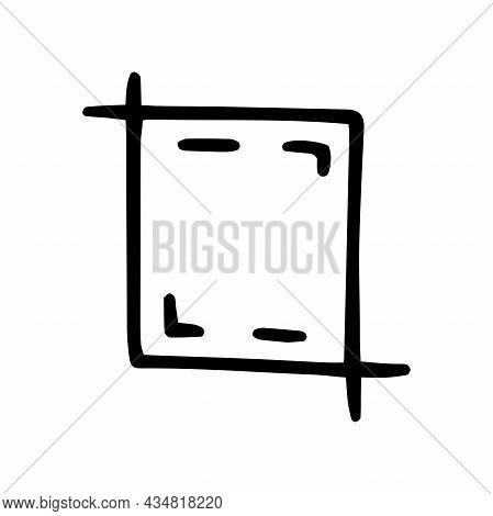 Crop Line Vector Doodle Simple Icon Design