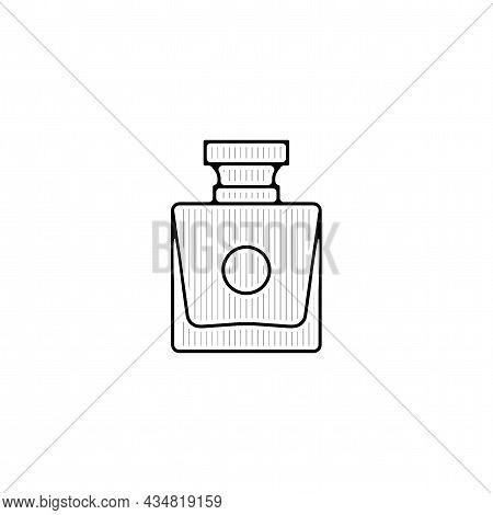 Perfume Vector Thin Line Icon. Perfume Hand Drawn Thin Line Icon.