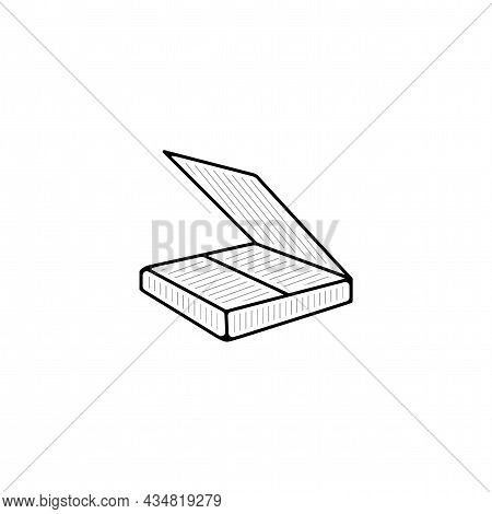 Scanner Vector Thin Line Icon. Scanner Hand Drawn Thin Line Icon.