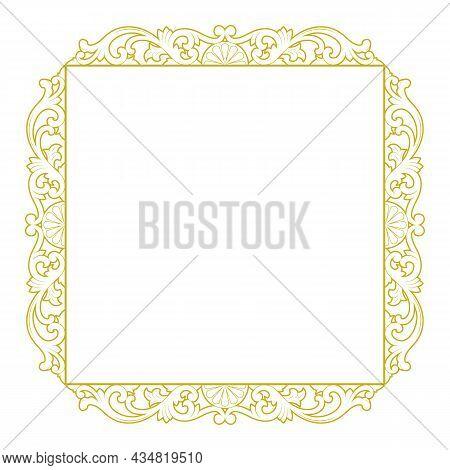 Gold Vector Engraving Frame, Vector Engraving, Gold Engraving, Engraving, Engraving, Engraving Frame