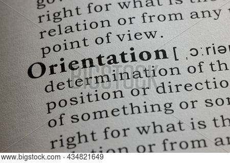 Fake Dictionary Word, Dictionary Definition Of Orientation
