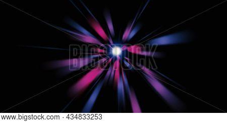 Zoom Laser Light Line Explosion Of Light Diffused Laser Light 3d Illustration