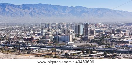 An Aerial Shot Of Downtown Tucson, Arizona