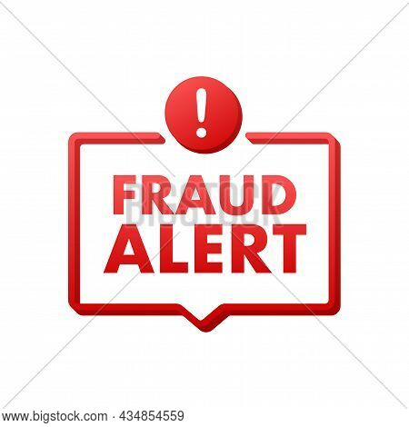 Fraud Alert. Security Audit, Virus Scanning, Cleaning, Eliminating Malware, Ransomware Vector Stock