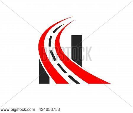 Transport Logo With N Letter Concept. N Letter Road Logo Design Template