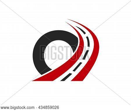 Transport Logo With O Letter Concept. O Letter Road Logo Design Template