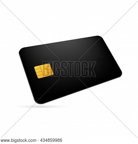 White Blank Shopping Credit Card. Credit Card For Finance. Vector Stock Illustration.