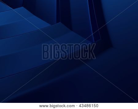 Blue Metallic Background With Chevron