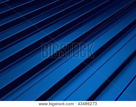 Blue Industrial Metallic Background With Bars.