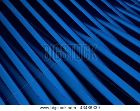 Blue Metallic Background With Cross Bars