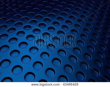 Blue Metallic Background With Perforation