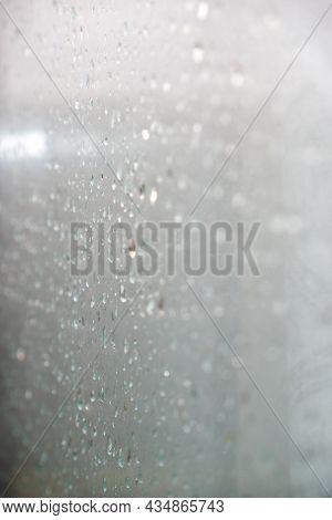 Raindrops On Glass. Raindrops On Glass Pane