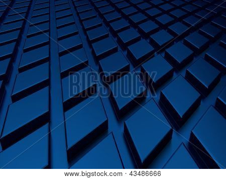 Blue Industrial Metallic Background .