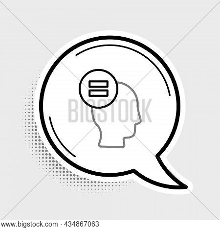 Line Calculation Icon Isolated On Grey Background. Colorful Outline Concept. Vector