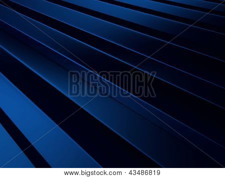 Blue Metallic Background With Lines.