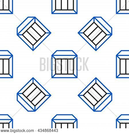 Line Carton Cardboard Box Icon Isolated Seamless Pattern On White Background. Box, Package, Parcel S