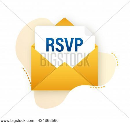 Rsvp Mail Icon. Please Respond To Mail Linear Sign. Vector Stock Illustration.