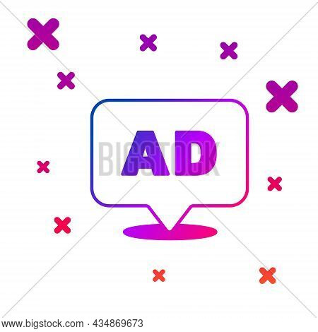 Color Advertising Icon Isolated On White Background. Concept Of Marketing And Promotion Process. Res