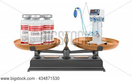 Vaccination Or Medical Ventilator, Concept. 3d Rendering Isolated On White Background