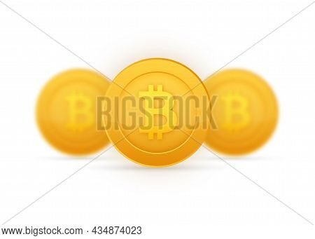 Abstract Black Icon. Bitcoin Exchange. Currency Icon. Online Payment. Crypto Currency, Virtual Elect