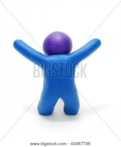 Success Plasticine Man 3D Figure