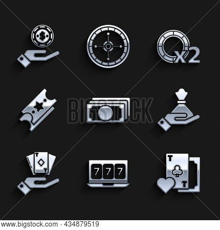 Set Stacks Paper Money Cash, Online Slot Machine With Lucky Sevens Jackpot, Playing Card Clubs Symbo