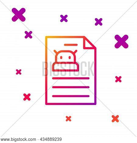 Color Line Technical Specification Icon Isolated On White Background. Technical Support Check List,