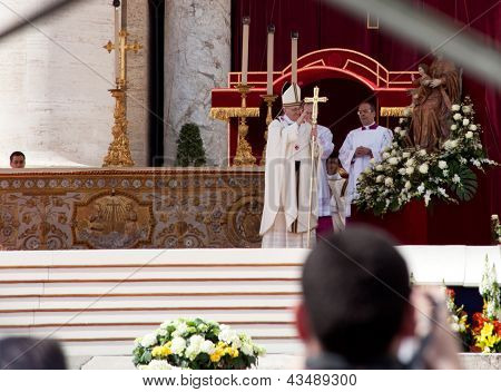 Pope Francis During His Inauguration Ceremony