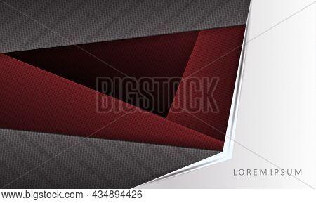 Dark Geometric Design, White Corner With An Arrow, Slanting Textured Curtains.