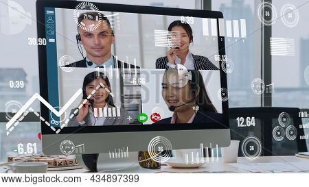 Imaginative Visual Of Business People And Financial Firms Staff . Concept Of Human Resources , Enter