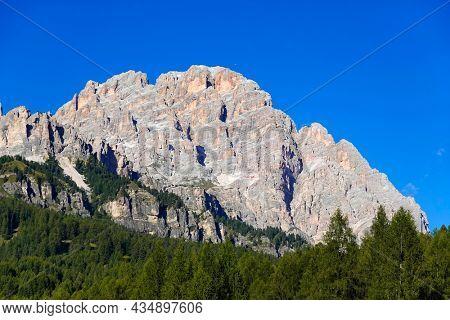 Alpine summer landscape of Cristallo Mountain, Dolomites, Italy
