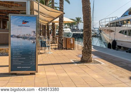 Puerto Portals, Spain; October 02 2021: General View Of The Touristic Resort Of Puerto Portals On Th