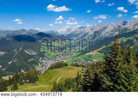 Mountain Landscape In La Clusaz, Haute-savoie, France