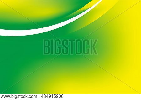 Abstract Smooth Natural Green Yellow Background Design Template Vector, Blurry Green Yellow Mesh Gra