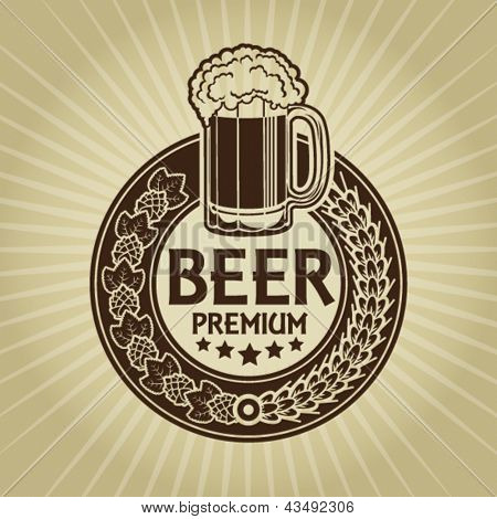 Beer Premium Retro Styled Seal / Label