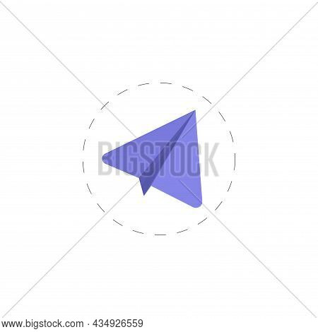 Paper Plane Clipart. Paper Plane Colorful Flat Vector Icon.