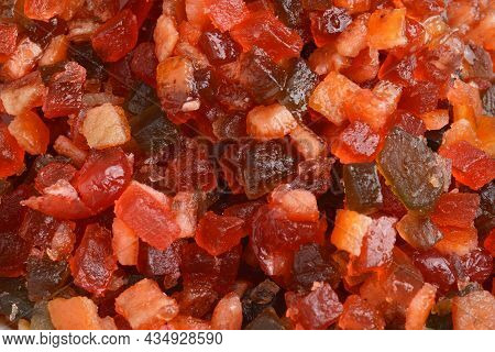 Macro Mixed Glace Candied Fruit Making A Seamless Background