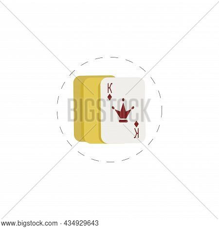 Playing Cards Aces Clipart. Playing Cards Aces Colorful Flat Vector Icon.