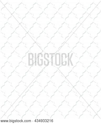 White Moroccan Pattern Whit Shadow On The Isolated White Background
