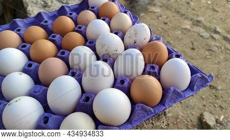 Village Chicken Eggs, Natural Real Chicken Eggs,