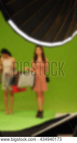 Blurry Images Of Making Tv Commercial Movie Video