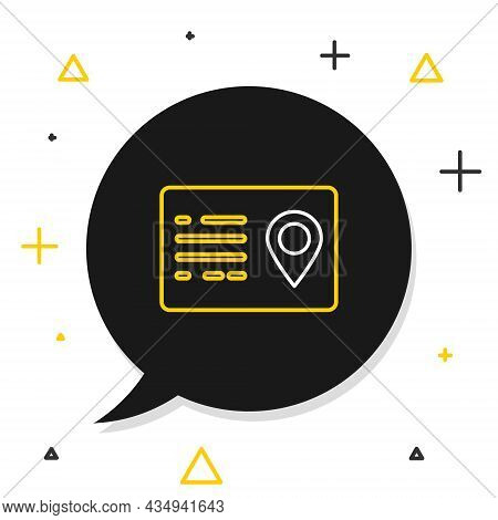 Line Address Book Icon Isolated On White Background. Telephone Directory. Colorful Outline Concept.