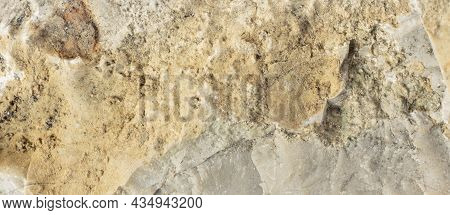 Limestone Rock With Visible Details. Background Or Texture