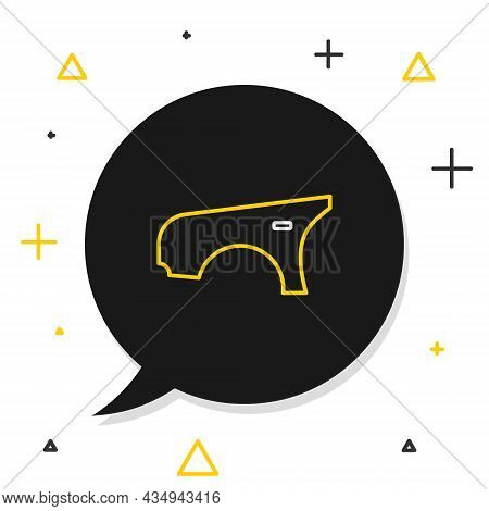 Line Car Fender Icon Isolated On White Background. Colorful Outline Concept. Vector